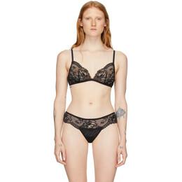 La Perla Black Lace Brigitta Triangle Bra 004890