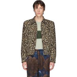 Dries Van Noten Brown and Black Leopard Zip-Up Jacket 20524-9067-101
