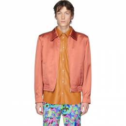 Dries Van Noten Pink Satin Zip-Up Jacket 20524-9214-354