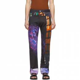 Dries Van Noten Multicolor Mika Ninagawa Edition Print Jeans 22402-9088-976