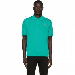 Ps by Paul Smith Green Knit Zebra Polo M2R-724T-A20811
