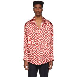 The Elder Statesman Red Silk Kaleidoscope Shirt 18008