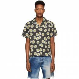 John Elliott Black Bowling Short Sleeve Shirt E013G82454A