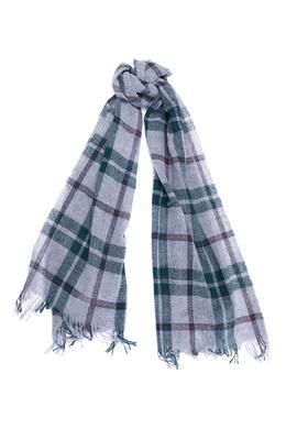 Серый шарф в красно-зеленую клетку Il Gufo 1205184306