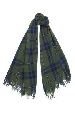 Сине-зеленый шарф в шотландскую клетку Il Gufo 1205184307