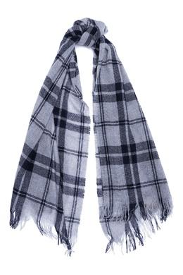 Серый клетчатый шарф из шерсти и кашемира Il Gufo 1205184304