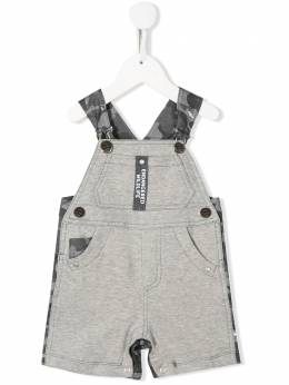 Lapin House camouflage patterned stitch detail dungarees 201E4605