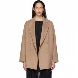 Acne Studios Tan Wool Double-Breasted Coat A90187