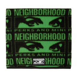 Perks And Mini Black and Green Neighborhood Edition Fleece Scarf 192MBPMN-AC01S