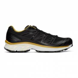 Fumito Ganryu Black and Yellow Salomon Edition XT-6 Trekking Sneakers 410939