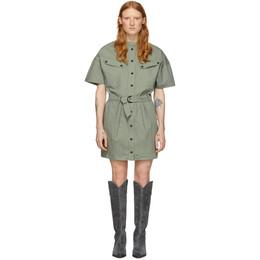 Isabel Marant Etoile Khaki Zolina Dress 20PRO1617-20P014E