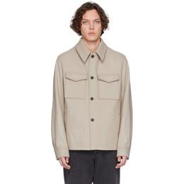 Ami Alexandre Mattiussi Off-White Wool Buttoned Shirt Jacket P20HOW502.214