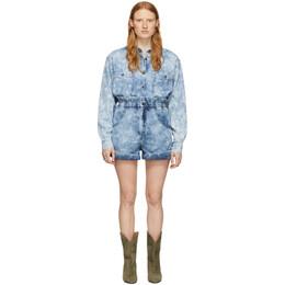 Isabel Marant Etoile Blue Denim Itea Shorts 20PSH0314-20P022E