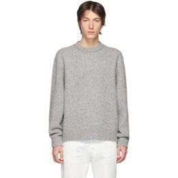 Acne Studios Grey Wool Cashmere Crewneck Sweater B60066