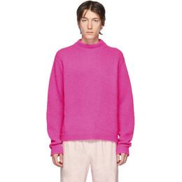 Tibi SSENSE Exclusive Pink Alpaca Sweater R119CZ6137