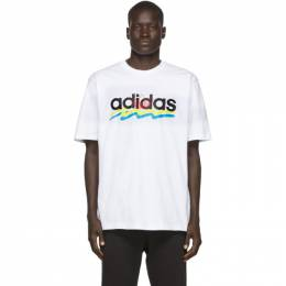 Adidas Originals White Brush Stroke T-Shirt FM1556