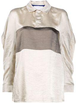 Koche атласная рубашка-поло со вставкой KPS20D07PR062SATIN