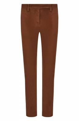 Укороченные замшевые брюки Brunello Cucinelli M0W30P6827