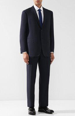 Шерстяной костюм с пиджаком на двух пуговицах Corneliani 827315-8817013/92 Q1