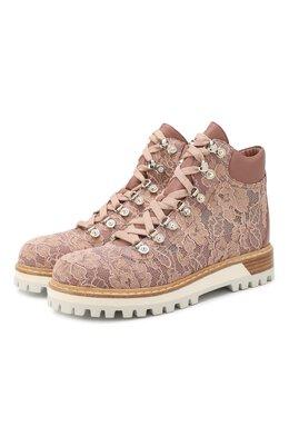 Текстильные ботинки Le Silla 7501Q040M1PPLAC