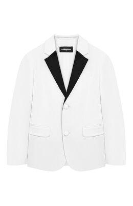 Хлопковый пиджак с платком Dsquared2 DQ03HV-D00UC