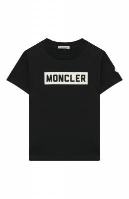Хлопковая футболка Moncler Enfant E2-954-80269-50-83092/12-14A