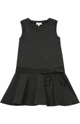 Мини-платье джерси с оборкой и бантом Aletta AF777424/4A-8A