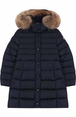 Пуховое пальто с меховой отделкой на капюшоне Moncler Enfant D2-954-49392-25-54155/4-6A