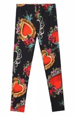 Хлопковые леггинсы Dolce&Gabbana L5JP4E/FSGQG/8-14