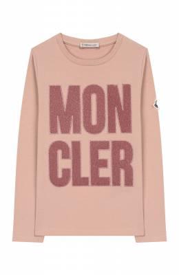 Хлопковый лонгслив Moncler Enfant E2-954-80741-50-87275/4-6A