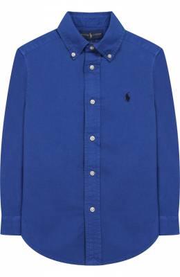 Хлопковая рубашка с воротником button down Ralph Lauren 323702884