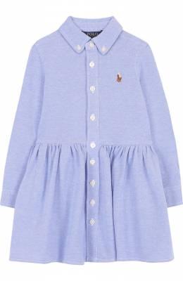 Джинсовое платье-рубашка с воротником button down Polo Ralph Lauren 312698765