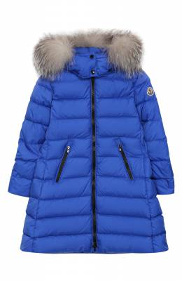 Пуховое пальто с капюшоном Moncler Enfant E2-954-49921-25-68352/4-6A