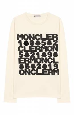 Хлопковый лонгслив Moncler Enfant E2-954-80752-50-87275/12-14A