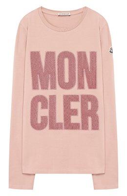 Хлопковый лонгслив Moncler Enfant E2-954-80741-50-87275/12-14A