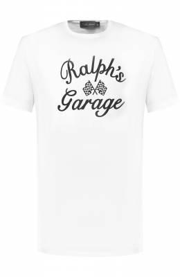 Хлопковая футболка с принтом Ralph Lauren 790727863