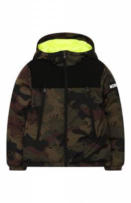 Пуховая куртка с капюшоном Moncler Enfant E2-954-41324-85-C0298/8-10A