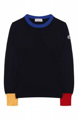 Шерстяной пуловер Moncler Enfant E2-954-90077-05-A9214/12-14A