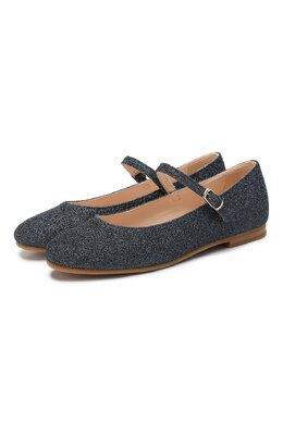 Туфли с текстильной отделкой Il Gufo G234/TESSUT0 GLITTER/31-34