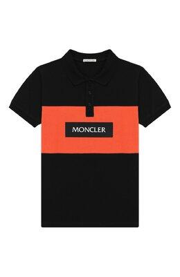 Хлопковое поло Moncler Enfant E1-954-83117-05-8496W/8-10A