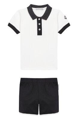 Комплект из хлопковой футболки и шорт Moncler Enfant E1-951-88123-50-8496F
