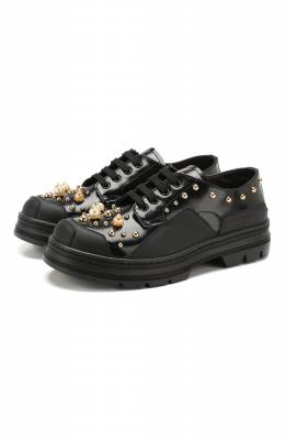 Кожаные дерби Dolce&Gabbana D10896/AJ398/29-36
