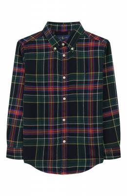 Хлопковая рубашка Ralph Lauren 321760801
