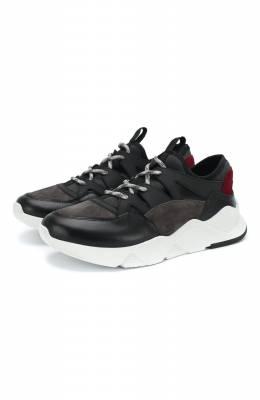 Комбинированные кроссовки Kiton D747WN00405
