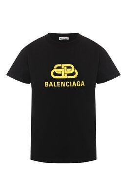 Хлопковая футболка Balenciaga 578133/TEV48