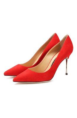 Замшевые туфли Godiva Sergio Rossi A85361-MCAZ01
