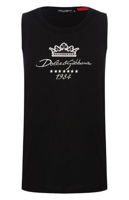 Хлопковая майка Dolce&Gabbana G8JY3Z/FU7EQ