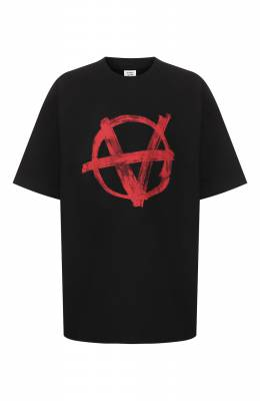Хлопковая футболка Vetements SS20TR297 1621/M