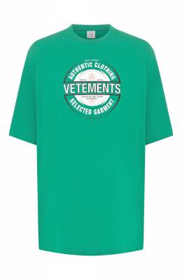 Хлопковая футболка Vetements SS20TR373 1621/M