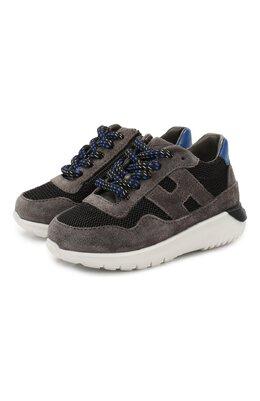 Замшевые кроссовки Hogan HXT3710AP30IBQ
